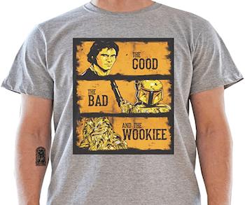 camiseta star wars bueno feo y malo