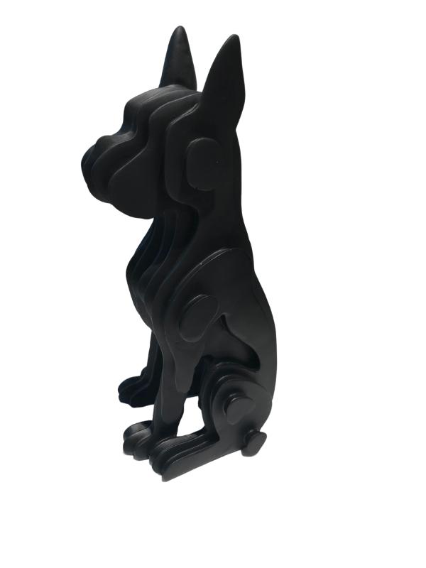 black cut shaped dog