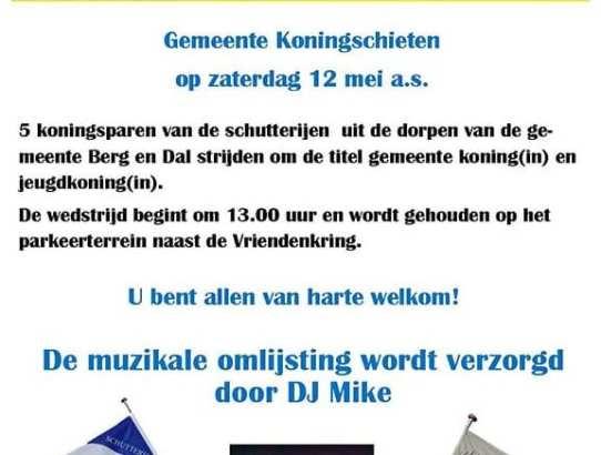 Eerste editie Gemeente Koningschieten
