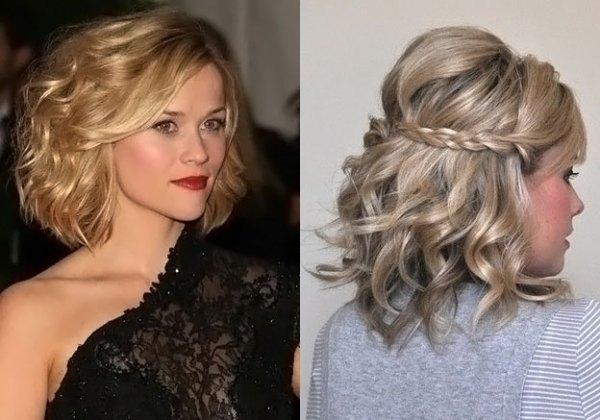 Вечерние прически на средние волосы | «Пластилин»