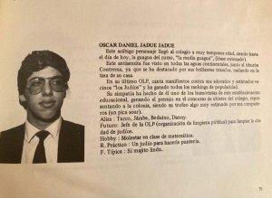 L'universitario Oscar Daniel Jadue Jadue