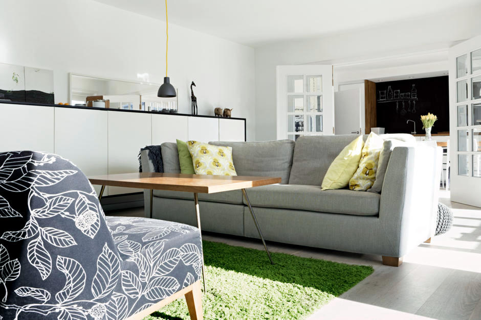 Sofa And Chair Gray Patterned Interior Design Ideas
