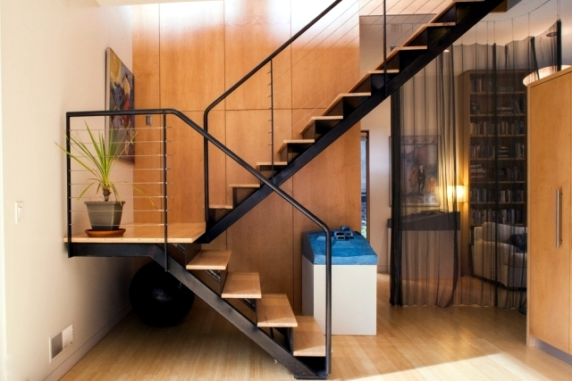 The Modern Steel Staircase Inside And Outside For Amazing Design   Stair Room Outside Design   Front Main Entrance   Natural   Family House   Normal   Connection