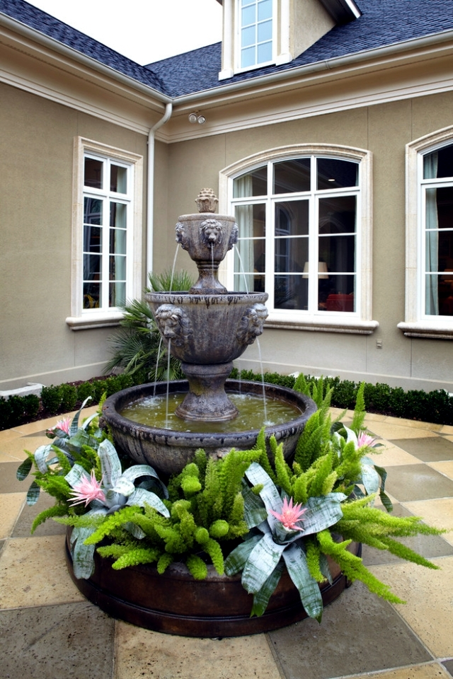 22 ideas for garden fountains as a creative design element ... on Water Feature Ideas For Patio id=13005