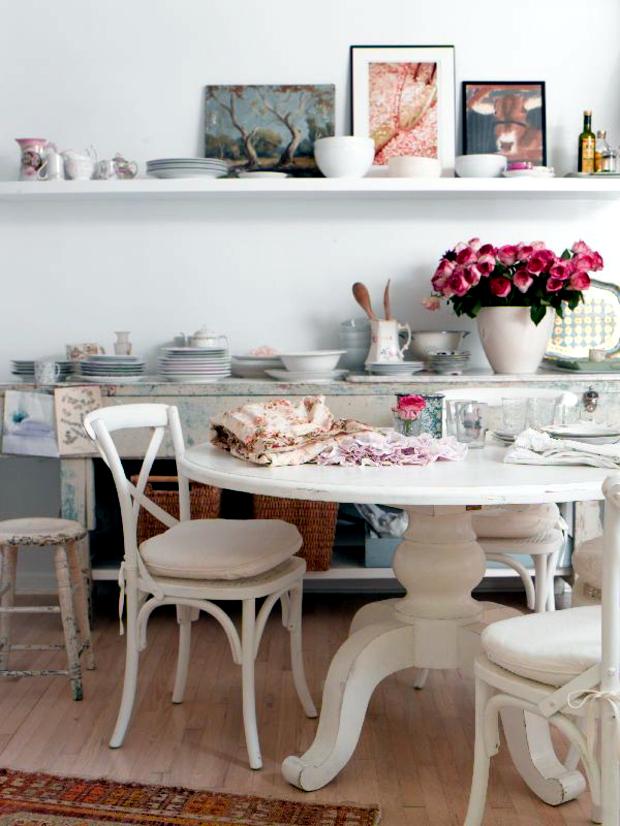 Ikea ingatorp tavolo allungabile bianco 110/155 cm : 75 Original Ideas For Decorating In The Shabby Chic Style Interior Design Ideas Ofdesign