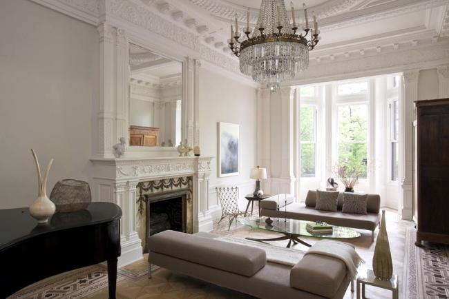 ruang tamu neoklasik
