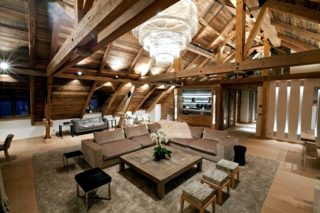 Rustic And Luxurious Duplex Apartment Frosty Winter By