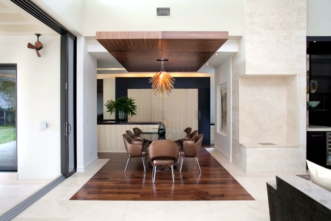 25 suspended ceiling ideas wood - Design Contemporary ... on Dining Table Ceiling Design  id=13228