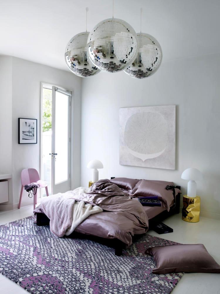 Satin Disco Balls And Pink Print Interior Design Ideas Ofdesign