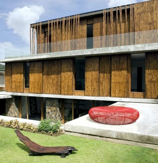 Exotic Wood And Stone House In The Philippines Interior