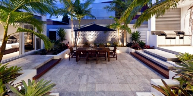 Designing exotic backyard of a house near the sea in ... on Backyard Landscape Designers Near Me  id=73543
