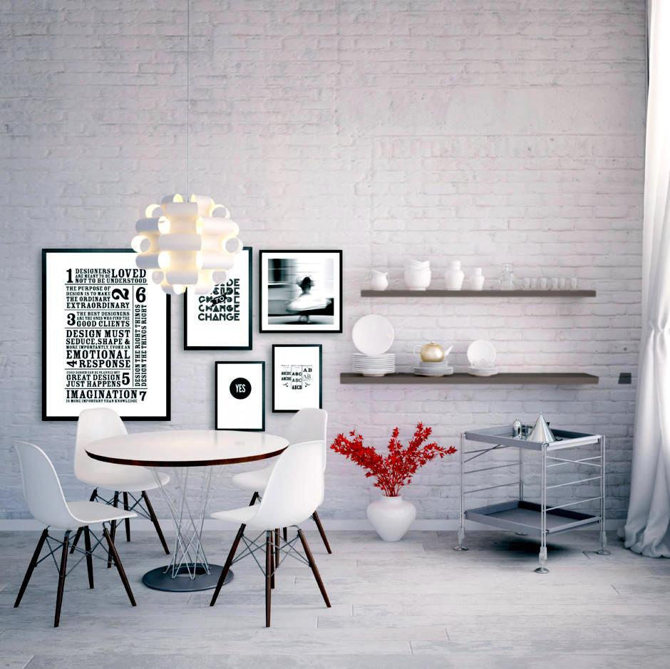 Optical White Brick Wall Interior Design Ideas Ofdesign