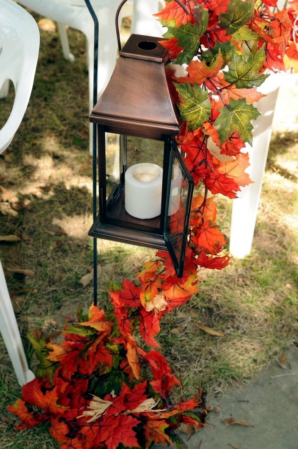 30 Ideas For Atmospheric Autumn Decoration With Lights And