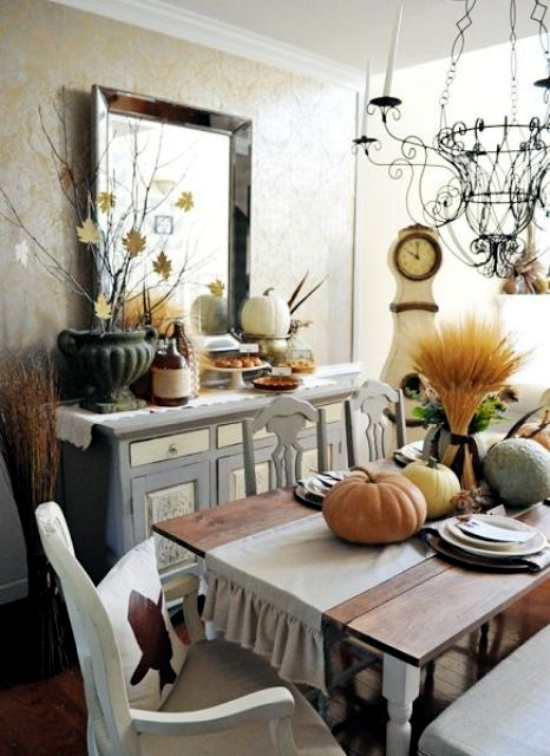 Create Cozy Dining Room With 20 Creative Ideas Herbstdeko