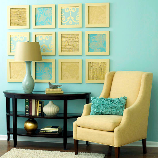 Creative wall design in the living room - ideas for ... on Creative Wall Design Ideas  id=87347