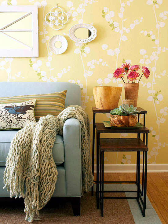 Creative wall design in the living room - ideas for ... on Creative Living Room Wall Decor Ideas  id=57023