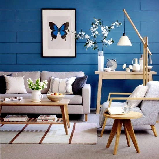 Creative wall design in the living room - ideas for ... on Creative Living Room Wall Decor Ideas  id=98795