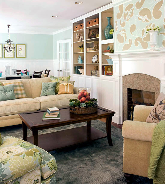 Creative wall design in the living room - ideas for ... on Creative Living Room Wall Decor Ideas  id=92995