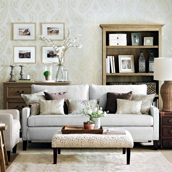 Creative wall design in the living room - ideas for ... on Creative Living Room Wall Decor Ideas  id=22053