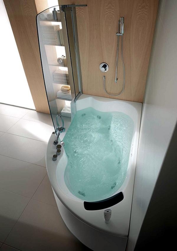 Ergonomic Corner Bathtub With Whirlpool Function By Teuco