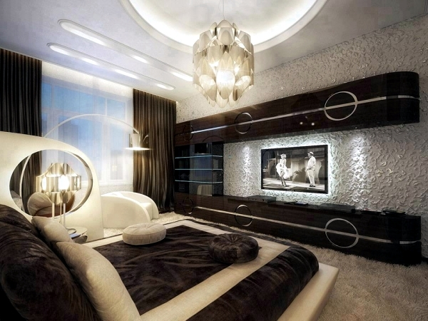 Modern bedroom colors - Brown conveys luxury and comfort ...