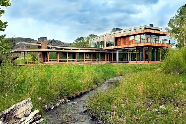 Modern Farm House Design By Highline Partners In Montana