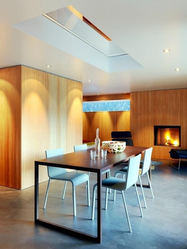 Modern Log Cabin In Switzerland Was Once Old Military Building Interior Design Ideas Ofdesign