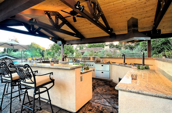 Trendy Outdoor Kitchen Set Up In The Garden Ideas For