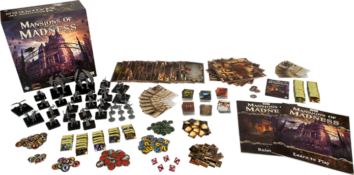 Componentes de Mansions of Madness 2nd Edition