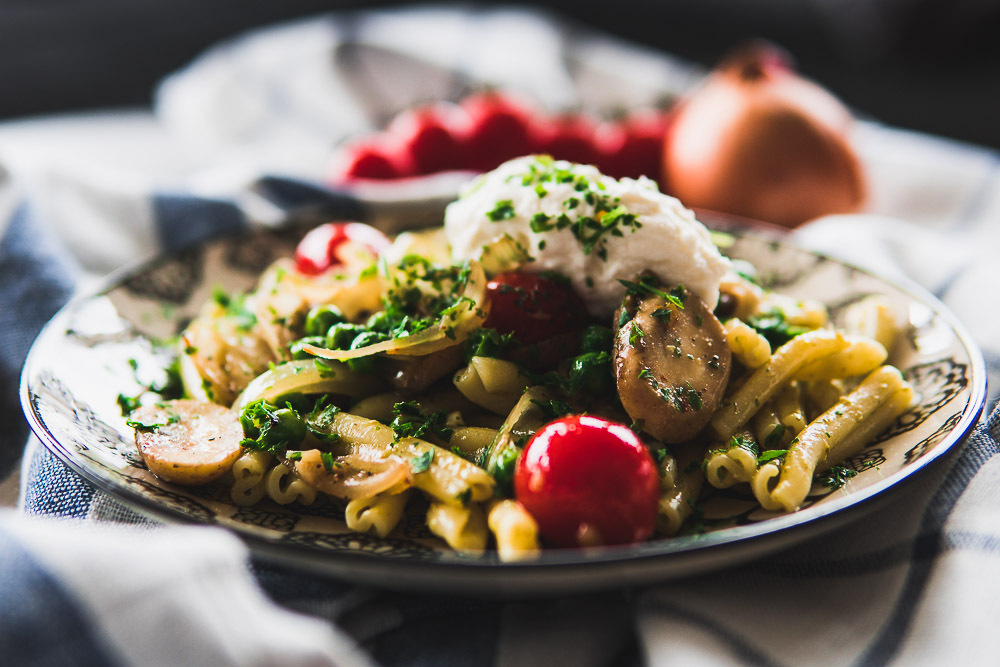 Gemelli Pasta Mittagessen schnell einfaches Rezept Ofen offen Foodblog
