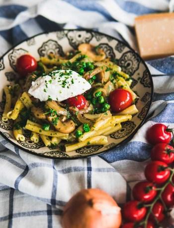 Gemelli Pasta Mittagessen Nudeln schnell einfaches Rezept Ofen offen Foodblog