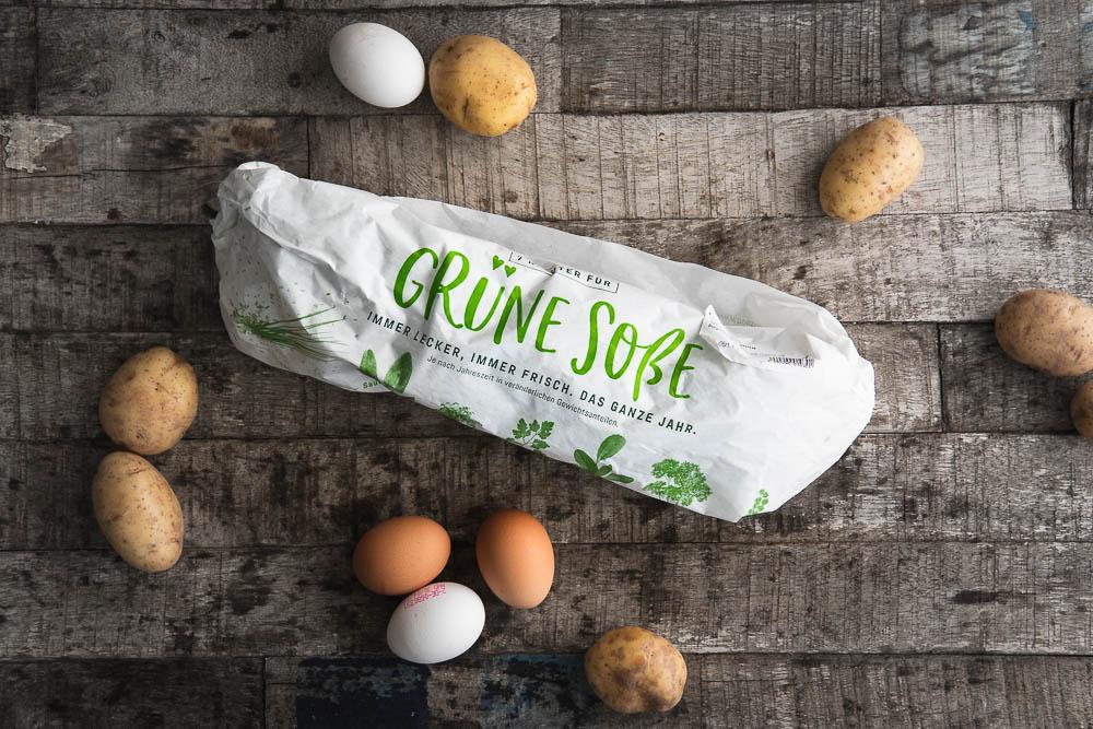 Grie Soß Grüne Sauce hessisches Nationalgericht Eier 7 Kräuter frisch Hessen Foodblog Ofen offen Rezept