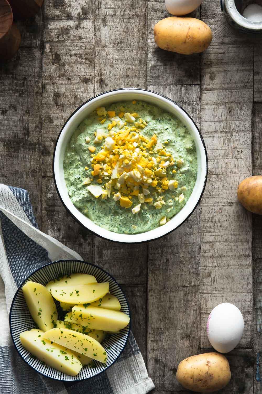 Rezept für Grüne Soße Ofen offen Foodblog mhhh!