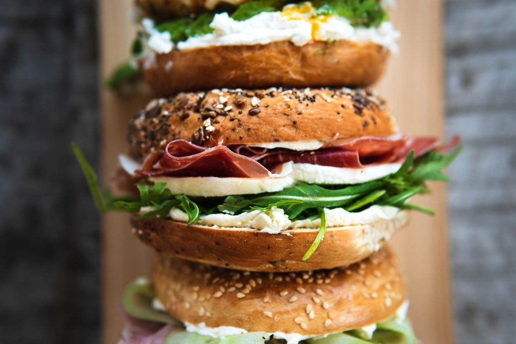 Belegtes Brot Bagel Foodblog Ofen offen