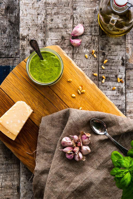 Basilikum Pesto selber machen alle Genovese Rezept italienisch Original