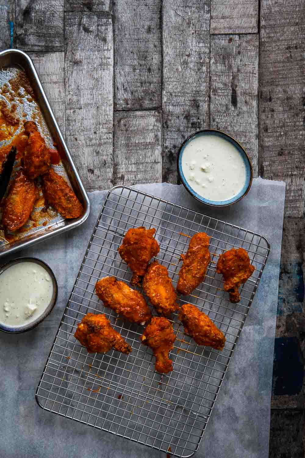 Buffalo Chicken Wings Backofen Rezept Marinade Super Bowl Essen Ofen offen