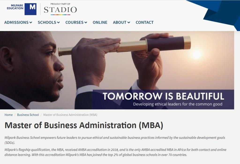 Milpark Business School MBA