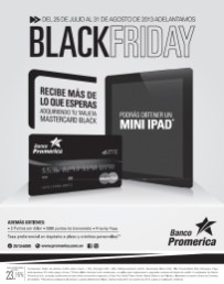 Black Friday Banco Promerica gana Mini iPAD