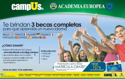 Academia Europea GANA 3 Becas - 29ago13