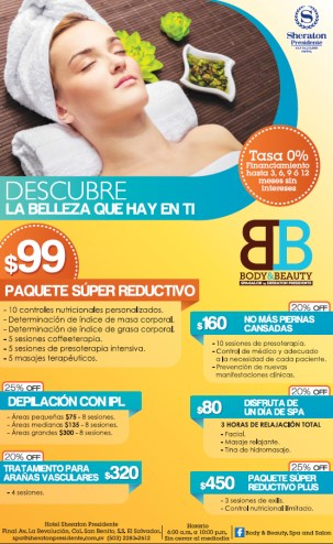 Body and Beauty SPA Salon en Hotel Sheraton Presidente - 27ago13