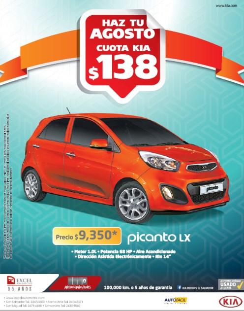 KIA Picanto LX promotion Excel Automotriz - 20ago13