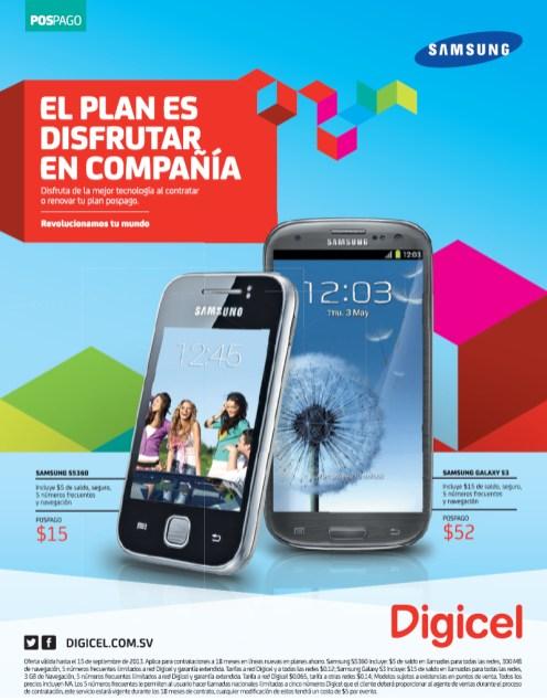Samsung Galaxy S3 promociones DIGICEL - 30ago13