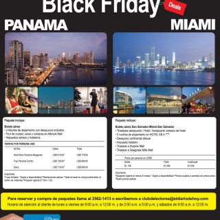 Black Friday DEALS Miami and Panama - 30sep13