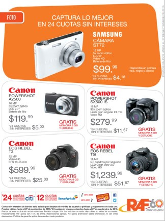 Canon EOS Rebel camera RAF ofertas - 20sep13