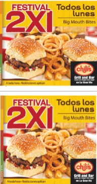 Chilis GRIL and Bar festival 2x1 - 30sep13