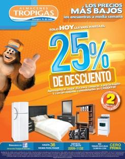 Los precios mas bajos a media seman en Almacenes Tropigas El Salvador - 25sep13