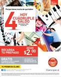 Recargas CLARO hoy cuadruple saldo - 30sep13