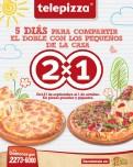 Telepizza 5 dias de promocion 2x1 - 30sep13