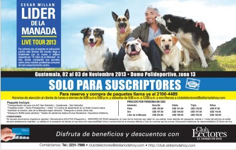 Cesar Millan LIDER DE LA MANADA live tour 2013