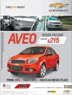 Chevrolet AVEO promotion Auto Facil - 22oct13